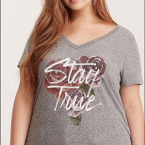 Torrid STAY TRUE Floral Tee